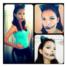 Halloween IDEAS / Tim Burton Inspired Cheshire Cat Halloween Costume... ❤ liked on Polyvore