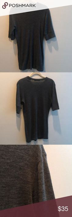 VINCE Gray Casual Short Sleeve Blouse Super soft, flawless shirt. Vince Tops Tees - Short Sleeve