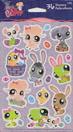 Littlest Pet Shop Stickers American Greetings Kids Easter Theme