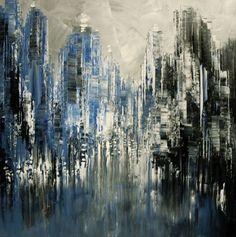 """Blue Moon"", Acrylic painting by Tatiana Iliina | Artfinder"
