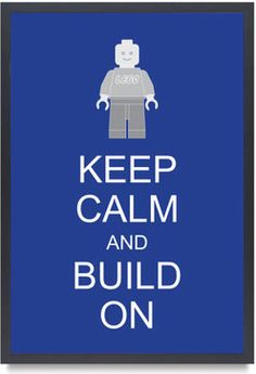 Legoman Lego Minifigure Keep Calm And Build On by Bardaron - - kids decor - - by Etsy
