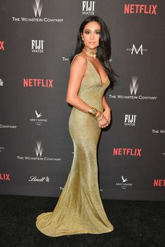 Golden Globes After Party - Shay Mitchell Pretty Little Liars, Emily Fields, Shay Mitchell Style, Golden Globes After Party, Boujee Outfits, Cutout Dress, Red Carpet Dresses, Celebrity Style, Celebs