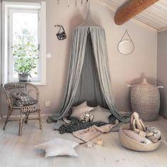 Baumwolle Betthimmel Baldachin Moskitonetz Rundum Nestchen Kinder Schlafzimmer