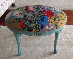Cross stitch stool