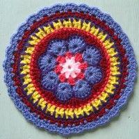 Crochet Mandala Wheel made by Delia, East Yorkshire, UK, for yarndale.co.uk   ... *  ♡