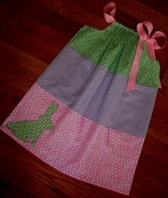 tiered bunny pillowcase dress