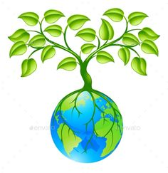 Buy Planet Earth Globe with Three Concept by Krisdog on GraphicRiver. Concept illustration of planet earth world globe with a tree growing on top. Any number of green environmental or bus. Save Water Drawing, Save Earth Drawing, World Environment Day Posters, Earth Day Posters, Free Vector Illustration, Illustrations, Illustration Art, Earth Drawings, Tree Day
