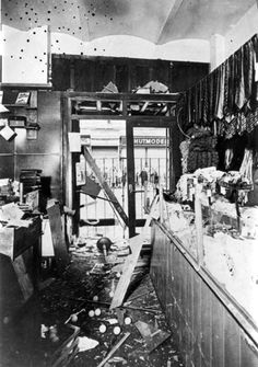 Austria, A Jewish-owned store destroyed by the Nazis before the Anschluss.