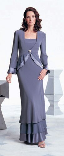 vestidos en chaquetas y falda larga - Buscar con Google Elegant Dresses, Nice Dresses, Mom Dress, Party Wear Dresses, Fashion Gallery, Feminine Style, Special Occasion Dresses, Plus Size Outfits, Evening Gowns