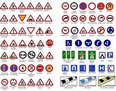 PDP Posters will not let us see these road signs. As soon as one is put up, one politician posts his poster over them Driving Test Tips, Driving Theory Test, Learning To Drive Tips, Driving Teen, Driving School, Highway Code Road Signs, Theory Test Revision, Revision Notes, British Road Signs