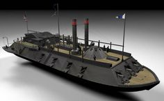 American Civil War Ship USS Carondelet (1861) Free Paper Model Download