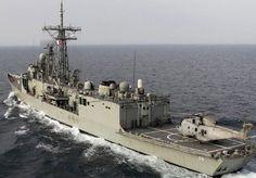 Royal Australian Navy Adelaide class guided missile frigate HMAS Newcastle.