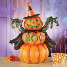 92 Inflatable Pumpkin 3 Ghosts Figure Festive Halloween Outdoor Decoration 122cm Ideas διακόσμηση