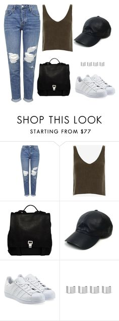 """Making"" by thefashionguilty on Polyvore featuring moda, Topshop, Exclusive for Intermix, Proenza Schouler, Vianel, adidas Originals y Maison Margiela"