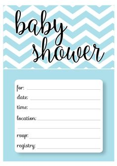 Free printable baby shower invitations! Several fun patterns to choose from! www.CutestBabyShowers.com