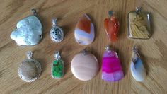 Check out this item in my Etsy shop https://www.etsy.com/listing/271905218/loose-gemstone-pendants-bulk-lot-of-10