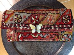 Clutch bag made of Turkish rug
