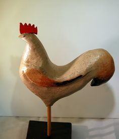 Y. Gamache.  Carved Wood and Paint.