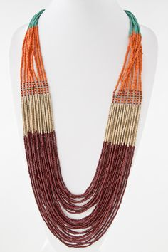 Mesh Bead Rope Necklace