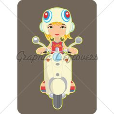 retro scooter girl