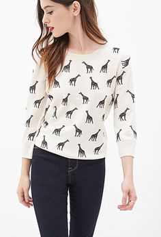 Animal Print Sweater | FOREVER21 - 2055879854