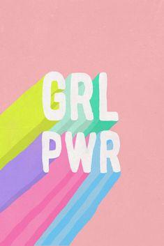 GRL PWR Art Print: Girl Power Poster, Feminist Art for Office, Kids Room, Pink Kids Art – girl power tattoo Frases Girl Power, Girl Power Quotes, Power Girl, Girl Quotes, Woman Power, Power Wallpaper, Girl Wallpaper, Wallpaper Quotes, Summer Wallpaper