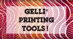 New Gelli Printing Tools from Gelli Arts!  Awesome NEW Gelli® Printing Tools!!! Each set contains three combs — each with a different edge producing a different mark. They work beautifully together for creating a huge range of striped patterns and swirly marks, depending how you apply them. Lots of mark-making to explore!