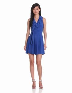 Amazon.com: Taylor Dresses Women's Ruffle Front Belted Dress: Clothing