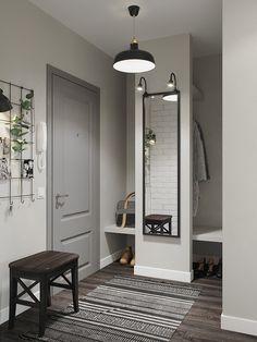Ideas for apartment entryway decor Flur Design, Hallway Designs, Apartment Design, Room Colors, Small Apartments, Entryway Decor, Apartment Entryway, Interior Design Living Room, Room Decor