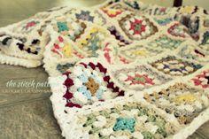 thestitchpattern.blogspot.com crochet granny sampler blanket