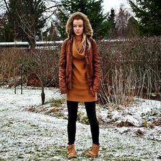 Nani Karoliina - Be yourself : Mini talvi Street Art, Street Style, Mini, Street Fashion, Winter Jackets, Photo And Video, Urban Apparel, Winter Coats, Winter Vest Outfits