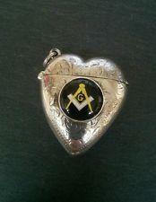 Caso sólido de plata corazón en forma de Vesta coinciden con seguro Esmalte…