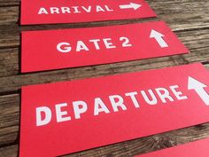 Airplane Party Signs  Terminal Signs Airplane by BlueOakCreations