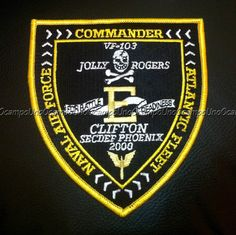 us navy jolly rogers | us navy fighter pilot vf-103 jolly rogers e patch. nuevo.