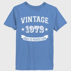 Vintage 1972 Aged To Perfection tshirt - Ladies' 100% Ringspun Cotton nano-T® V-Neck T-Shirt Backprint Only
