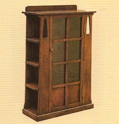 Arts and Crafts Mission Oak Bookcase with sideshelves. $550.00, via Etsy.