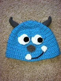 Crocheted Sully Hat from Monsters Inc.