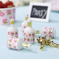 Vintage Roses Party Poppers - Vintage Tea Party Ideas - Party Ark