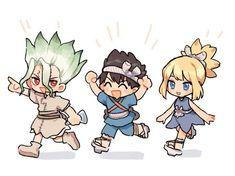 tloraxin (@tloraxinx) / Twitter Chica Anime Manga, Anime Chibi, Kawaii Anime, Anime Art, Stone World, Kohaku, Cute Chibi, Character Design, Fan Art