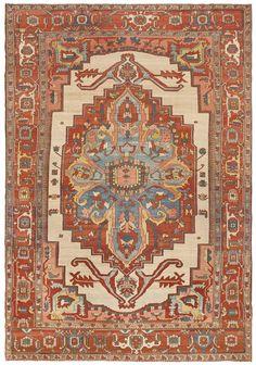 Antique Serapi Rug #45559  http://nazmiyalantiquerugs.com/antique-rugs/persian-antique-rugs/