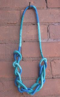 Thanks, I Made It: DIY Wrapped Rope Necklace