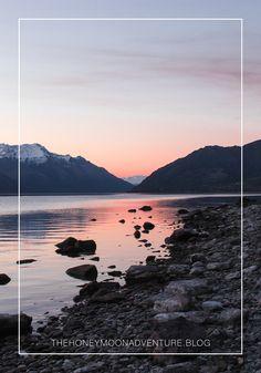 Die Sonnenuntergänge in Neuseeland sind einfach wunderschön. Wie hier am Lake Wakatipu. Advent, Mountains, Water, Travel, Outdoor, Campsite, Explore, Simple, Nice Asses