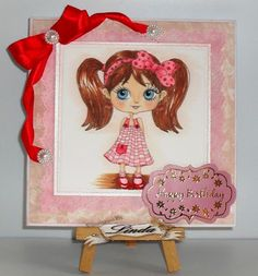 Linda's Crafty Piece of Heaven: Julia Spiri's Digi Girl with Pigtails