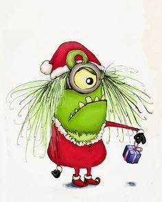 Grinch Minion - I know it is too early for anything Christmas, but this was too cute.