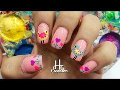 Nail art Aves y Corazones - Manicure uñas con H la Cosedora - Colaboracion con Belinda - YouTube