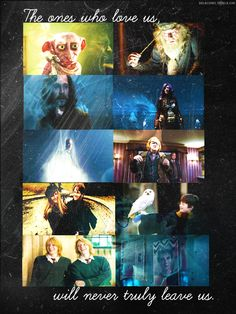 The ones who love us will never truly leave us. BAH. Hedwig! and Dobby! and Sirius! Oh this is just too sad.