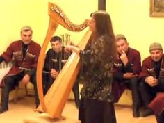 Harpist Singer MANDRAGORE plays her harp and sings her own songs in Georgia Svanetia before great MasterS Vakho (son) and Islam (father) PILPANI , Summer 2015 Silk Road, Harp, Georgian, Summer 2015, Plays, Masters, Musicians, Islam, Singing