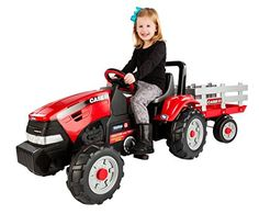 Make outdoor play more imaginative and exciting with this Case IH Pedal Tractor and Trailer. Your children will enjoy spending hours pedaling around the yard on this ride-on. It features a red tractor...