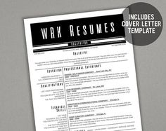 Languages On Resume Word Modern Resume Template Professional Resume Cv Template Instant  Resume Writer Nyc Excel with Adding References To A Resume Excel Modern Resume Template  The Amelia Resume Tempates