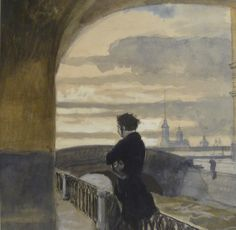 Pushkin to Saint Petersburg by Alexandre Benois